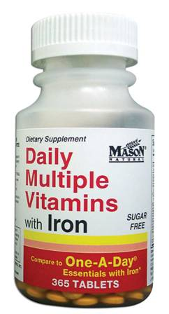 Image 0 of Daily Multiple Vitamins With Iron Sugar Free Tablets 365