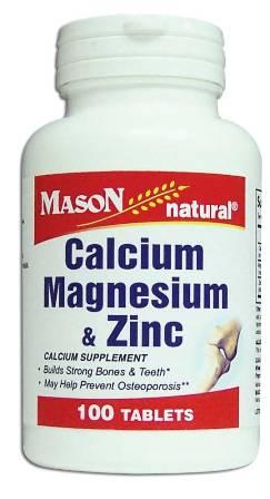 Image 0 of Calcium Magnesium & Zinc Calcium Supplement Tablets 100
