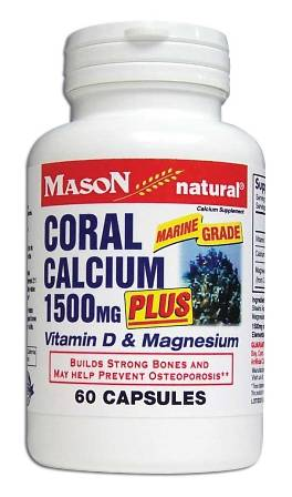 Image 0 of Coral Calcium 1500mg Plus Vitamin D & Magnesium Calcium Supplement Capsules 60