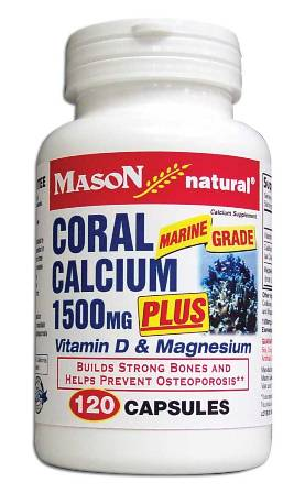 Image 0 of Coral Calcium 1500mg Plus Vitamin D & Magnesium Calcium Supplement Capsules 120
