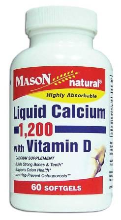Image 0 of Liquid Calcium 1200 With Vitamin D Calcium Supplement Softgels 60