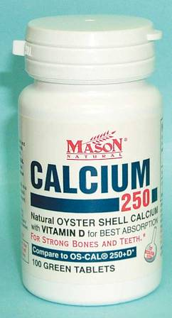 Image 0 of Oyster Shell Calcium 250 mg With Vitamin D Tablets 100(Discontinued)