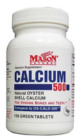 Image 0 of Oyster Shell Calcium 500 Calcium Supplement Green Tablets 100