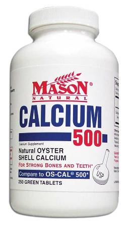 Image 0 of Oyster Shell Calcium 500 Calcium Supplement Green Tablets 250