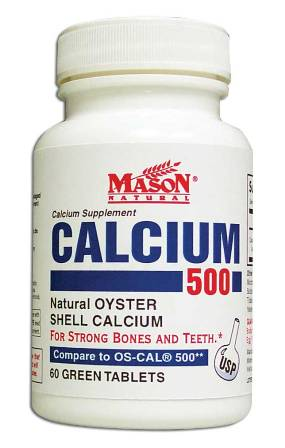 Image 0 of Oyster Shell Calcium 500 Calcium Supplement Green Tablets 60