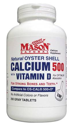 Image 0 of Oyster Shell Calcium 500 With Vitamin D Calcium Supplement Gray Tablets 250