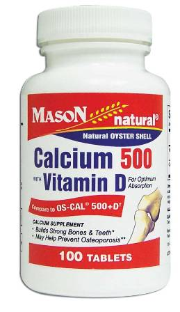 Image 0 of Oyster Shell Calcium 500 With Vitamin D Calcium Supplement Tablets 100