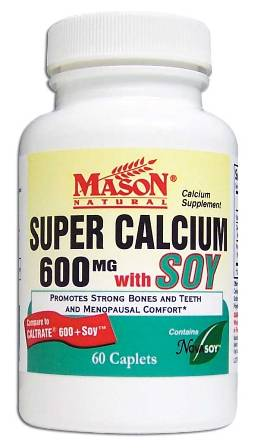 Image 0 of Super Calcium 600mg With Soy Calcium Supplement Caplets 60