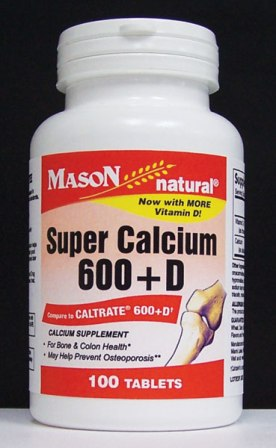 Image 0 of Super Calcium 600 mg With Vitamin D Calcium Supplement Tablets 100