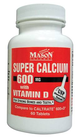 Image 0 of Super Calcium 600 mg With Vitamin D Dietary Supplement Tablets 60