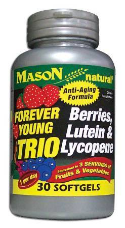 Image 0 of Forever Young Trio of Berries Lutein & Lycopene Anti-Aging Formula Softgels 30