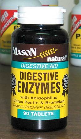 Image 0 of Digestive Enzymes With Acidophilus Citrus Pectin & Bromelain Tablets 90