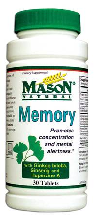 Image 0 of Memory With Ginkgo Biloba Ginseng & Huperzine A Tablets 30