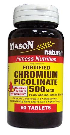 Image 0 of Fortified Chromium Picolinate 500 Mcg Fitness Nutrition Tablets 60