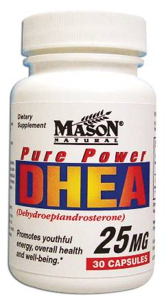 Image 0 of Pure Power Dhea 25 mg Dietary Supplement Capsules 30