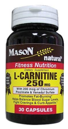 Image 0 of L-Carnitine 250mg Fitness Nutrition Dietary Supplement Capsules 30