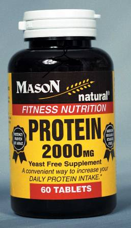 Image 0 of Protein 2000mg Yeast Free Supplement Fitness Nutirition Tablets 60(Discontinued)