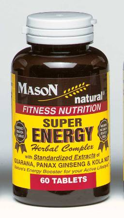 Image 0 of Super Energy Herbal Complex Formula Fitness Nutrition Tablets 60