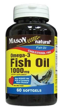 Image 0 of Omega-3 Fish Oil Epa-1000mg Cholestrol Free Softgels 60