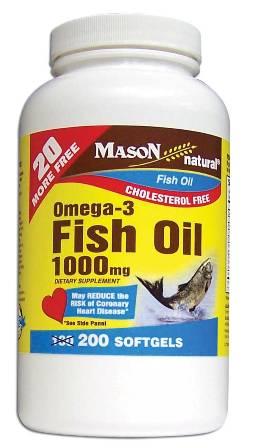 Image 0 of Omega-3 Fish Oil Epa-1000mg Cholestrol Free Softgels 200