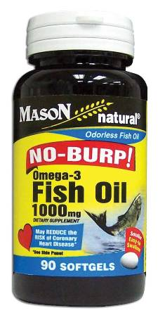 Image 0 of No-Burp! Omega-3 Fish Oil 1000 mg Dietary Supplement Softgels 90
