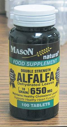 Image 0 of Alfalfa Double Strength Dehydrated Leaves Food Supplement Tablets 100