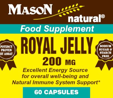 Image 0 of Royal Jelly 200 mg Food Supplement Capsules 60
