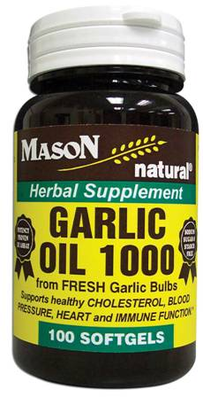 Image 0 of Garlic Oil 1000 mg Herbal Supplement Softgels 100