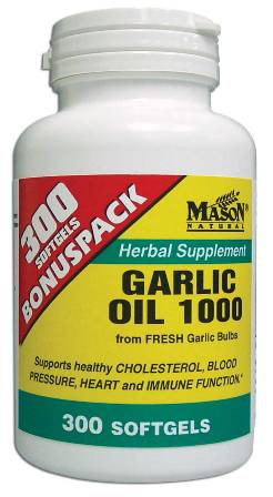 Image 0 of Garlic Oil 1000 mg Bonuspack Herbal Supplement Softgels 300
