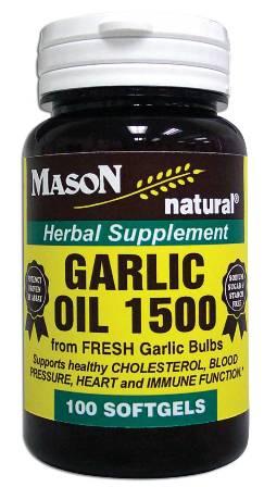 Image 0 of Garlic Oil 1500 mg Herbal Supplement Softgels 100