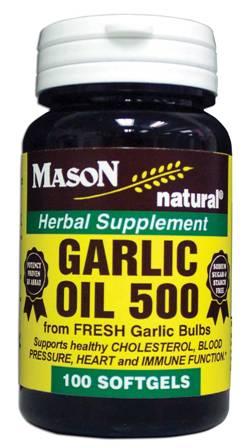 Image 0 of Garlic Oil 500 mg Herbal Supplement Softgels 100