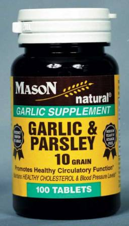Image 0 of Garlic & Parsley 10 Grain Garlic Supplement Tablets 100