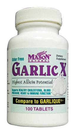 Image 0 of Garlic-X Highest Allicin Potential Odor Free Dietary Supplement Tablets 100