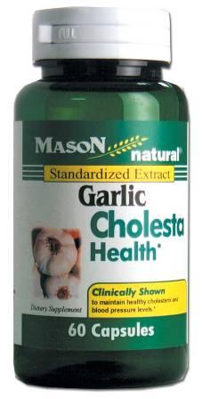 Image 0 of Garlic Standarized Extract Cholesta Health Dietary Supplement Capsules 60
