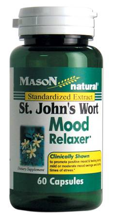 Image 0 of St John's Wort Mood Relaxer Standardized Extract Dietary Supplement Capsules 60