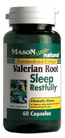 Image 0 of Valerian Root Sleep Restfully Standardized Extract Dietary Suplement Capsules 60