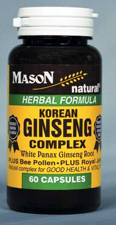 Image 0 of Korean Ginseng Complex White Panax Ginseng Root Capsules 60