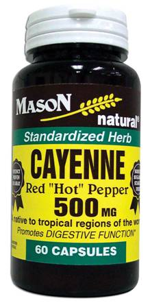 Image 0 of Cayenne 500mg Premium Herbal Supplement Capsules 60