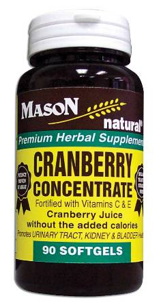 Image 0 of Cranberry Concentrate With Vitamin C & E Premium Herbal Supplement Softgles 90