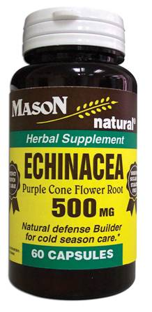 Image 0 of Echinacea 500mg Purple Cone Flower Root Herbal Supplement Capsules 60