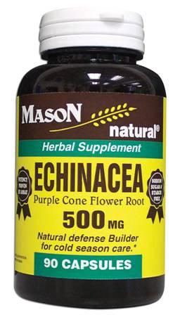 Image 0 of Echinacea 500mg Purple Cone Flower Root Herbal Supplement Capsules 90