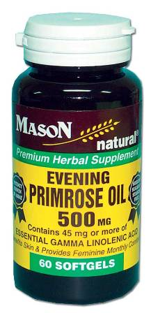 Image 0 of Evening Primrose Oil 500mg Premium Herbal Supplement Softgels 60