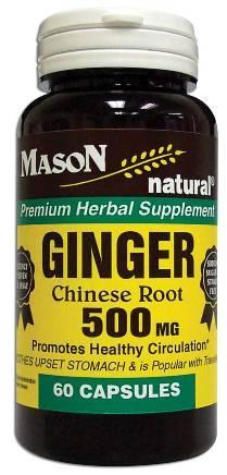 Image 0 of Ginger Chinese Root 500 mg Premium Herbal Supplement Capsules 60