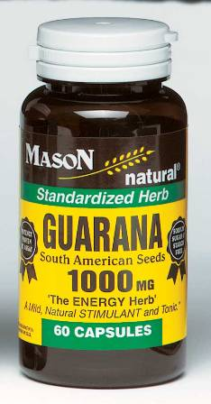 Image 0 of Guarana 1000 mg South American Seeds Standardized Herb Capsules 60