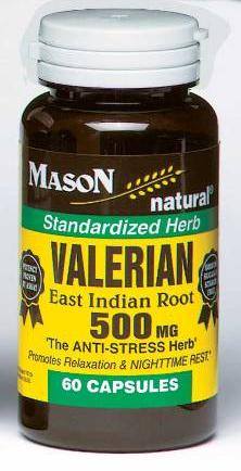 Image 0 of Valerian 500mg Eachst Indian Root Anti-Stress Herb Capsules 60
