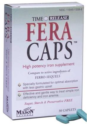 Image 0 of Fera Caps Time Release High Potency Iron Supplement Caplets 30