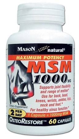 Image 0 of Msm 1000 mg Maximum Potency Dietary Supplement Capsules 60