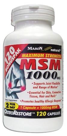 Image 0 of Msm 1000 mg Maximum Strength Bonuspak Dietary Supplement Capsules 120