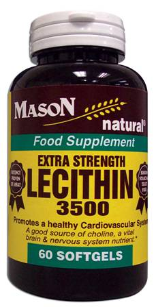 Image 0 of Lecithin 3500 Extra Strength Food Supplement Softgels 60