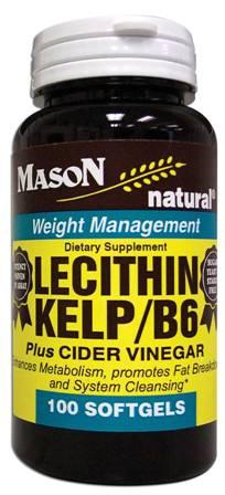 Image 0 of Lecithin Kelp/B-6 Plus Cider Vinegar Dietary Supplement Softgels 100